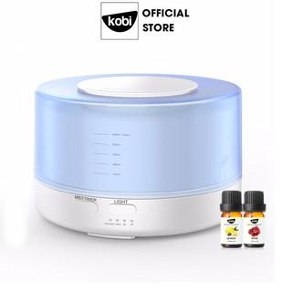 Combo máy phun sương, khuếch tán tinh dầu Kobi Bình Minh và 2 chai tinh dầu Kobi nguyên chất 10ml/chai