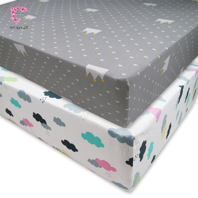 Cartoon Printing Cotton Crib Sheet for Kids Infant Baby Kindergarten Use