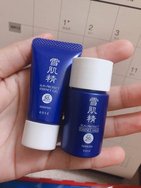 Đánh giá sản phẩm Kose Kem Chống Nắng SEKKISEI SUN PROTECT ESSENCE GEL SPF50/PA++++ 10ml (Tuýp) của huynhpencil