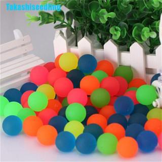 Takashiseedling☬ 10Pcs Creative Rubber Bouncing Jumping Ball 27Mm Kids Children Game Toy Gifts