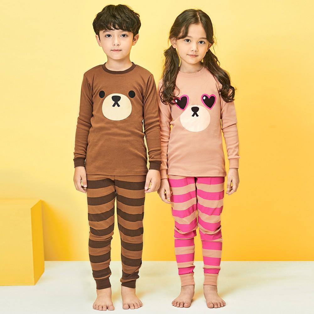 Đồ bộ cotton thu đông 2020 cho bé trai, bé gái Unifriend Hàn Quốc UniT03