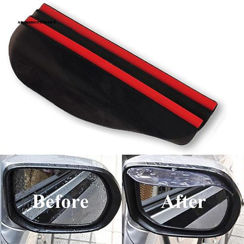 【SUCM】2 Pcs Universal Rear View Side Mirror Black Clear Rain Snow Shield for Car Truck