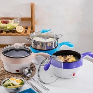 💥HÀNG XỊN💥 Nồi Điện Mini Hai Tầng Đa Năng Tặng Kèm Khay Hấp có thể Chiên, Xào, Nấu ăn, nấu cơm,nấu mì, nấu lẩu mini
