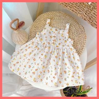Váy hoa nhí sát nách cho bé gái – Quần áo trẻ em Sumin Kids