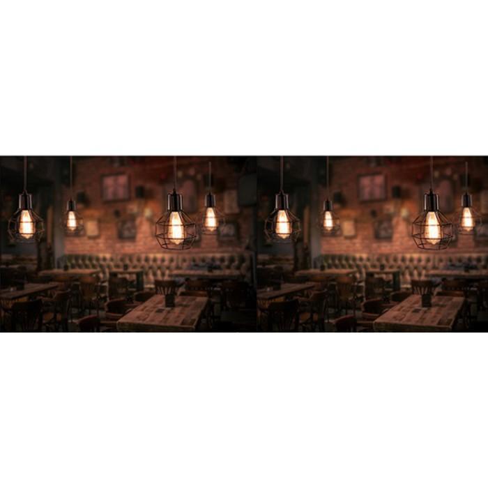 Đèn thả khung sắt nghệ thuật, đèn thả bàn ăn TSDB (gồm bóng)