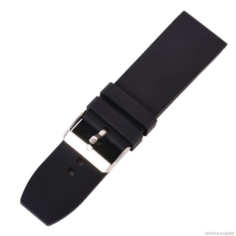 Watch band with stainless steel buckle, size 16/18/20/22/24/26 / 28mm for wrist watch.