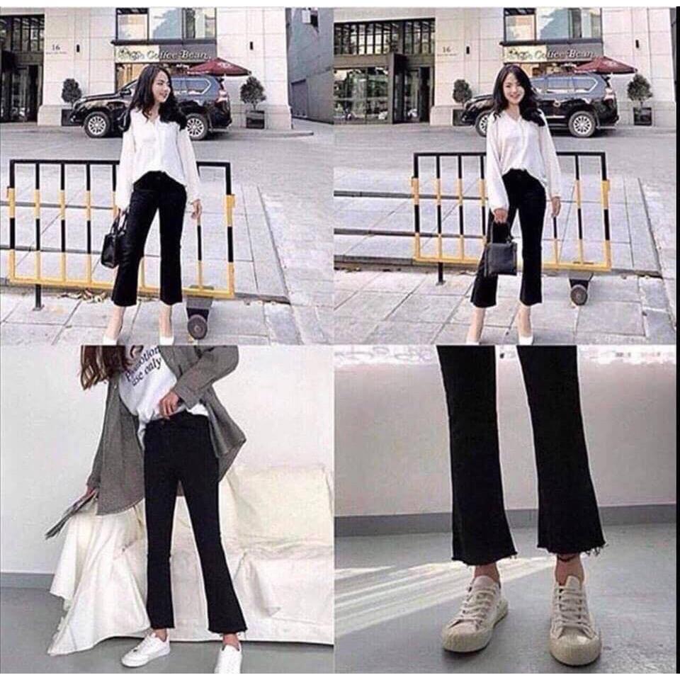 Quần jeans Đen Loe mã 600-707 (kèm ảnh thật,video) | WebRaoVat