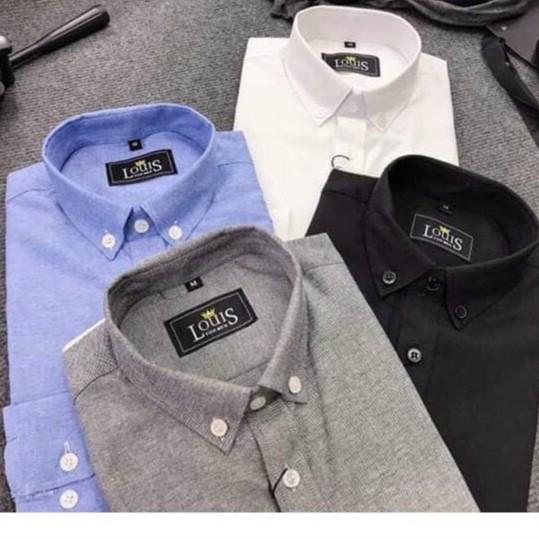 Áo Khoác Sơ Mi Nam Vải Cotton Nỉ Tay Dài Thời Trang