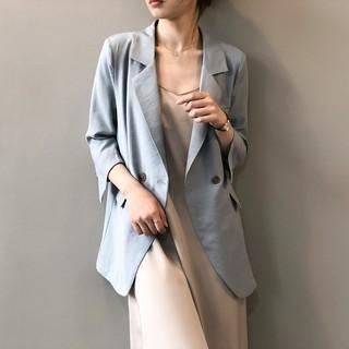 Áo Khoác Vest Mỏng Tay Lỡ Phong Cách Anh Quốc Thời Trang Cho Nữ 0768
