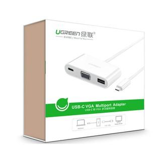 Cáp chuyển USB Type C 3.1 sang USB và VGA Ugreen