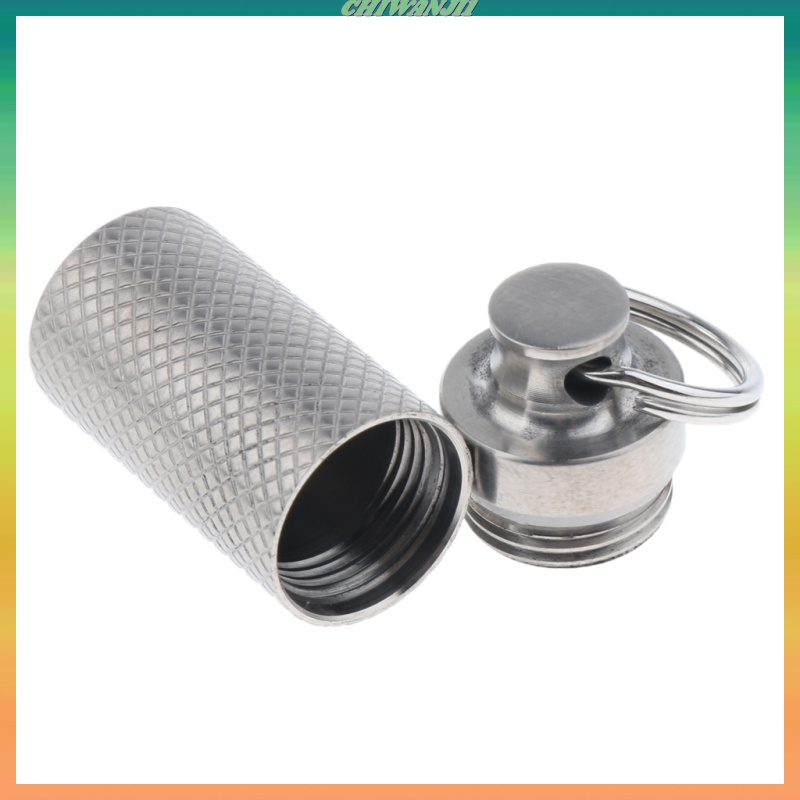 [CHIWANJI1]Small Pill Case Outdoor Portable First Aid Container Water Bottle Keyring