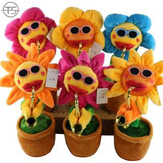 SONG Plush Sunflower Toy Sunflower Doll Display Decor Amusement