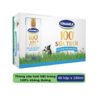 MẪU MỚI Sữa tươi tiệt trùng Vinamilk 100% Không Đường 180ml