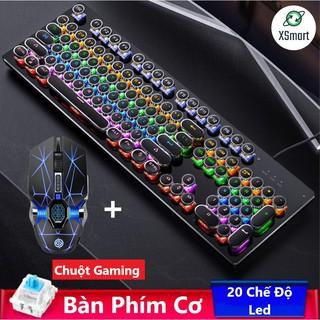 Bộ Chuột V8 Và Bàn Phím Cơ T907 Led Nhiều Màu Hơn 20 Chế Độ Led Khác Nhau Chơi Game Máy Tính, PC, Laptop Siêu Đã thumbnail