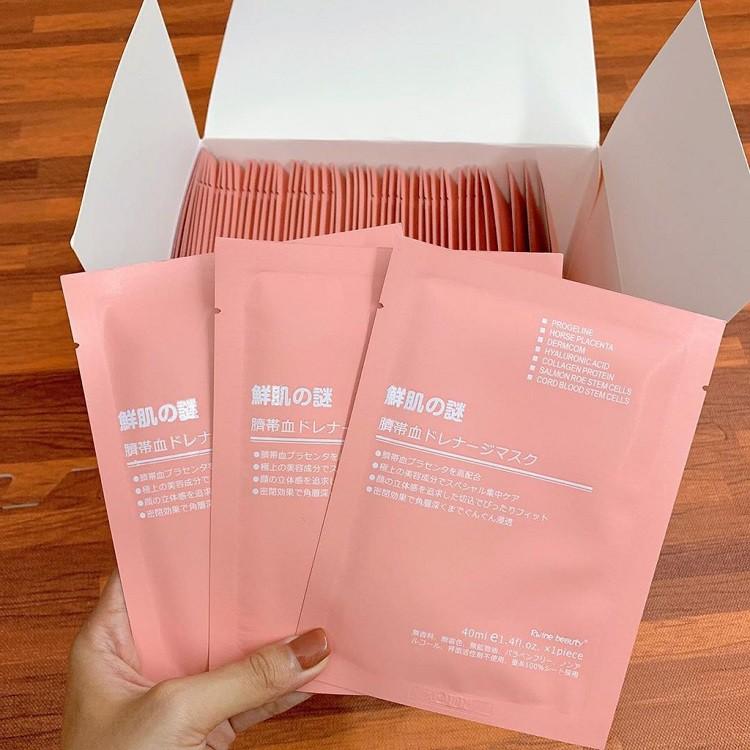 [1 HỘP 50 MASK] Mặt Nạ Nhau Thai Cuống Rốn Nhật Bản Rwine Beauty Cao Cấp giá rẻ