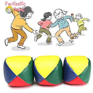 BABY Juggling Balls Set Classic Bean Bag Juggle Magic Circus Beginner Kids Toy Gift
