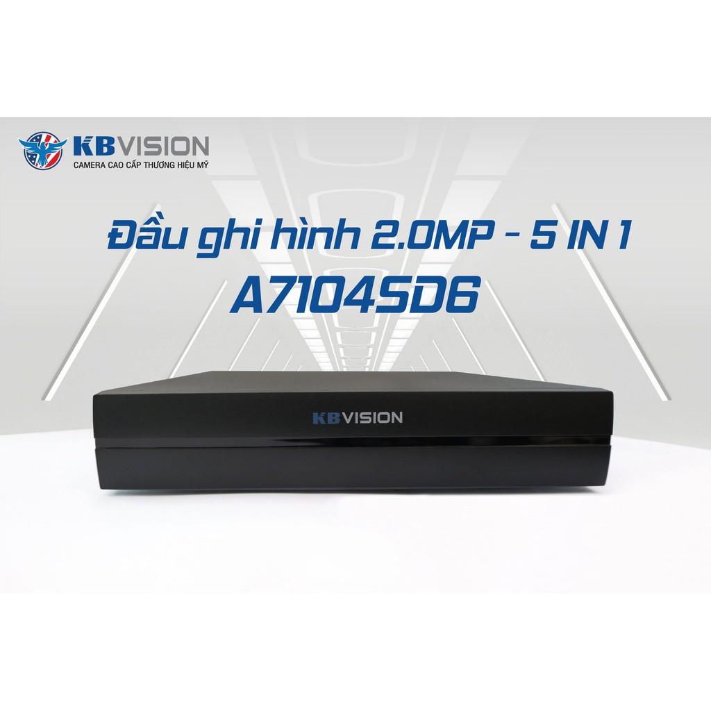 KX-A7104SD6 Đầu ghi hình camera 4 kênh 5 in 1 KBVISION