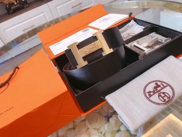 (Full Box) Bộ Thắt Lưng Da Nam Cao Cấp Kèm 2 Mặt Như Hình