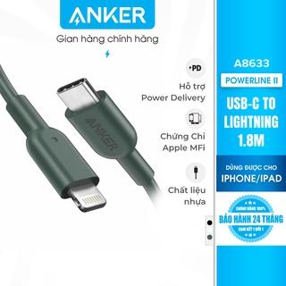 Cáp sạc ANKER PowerLine II Lightning to USB-C dài 1.8m - A8633 thumbnail