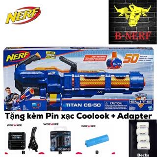 Đồ Chơi Nerf TITAN CS-50 tặng kèm Pin + Sạc + Adapter Coolook 3.2v siêu khoẻ