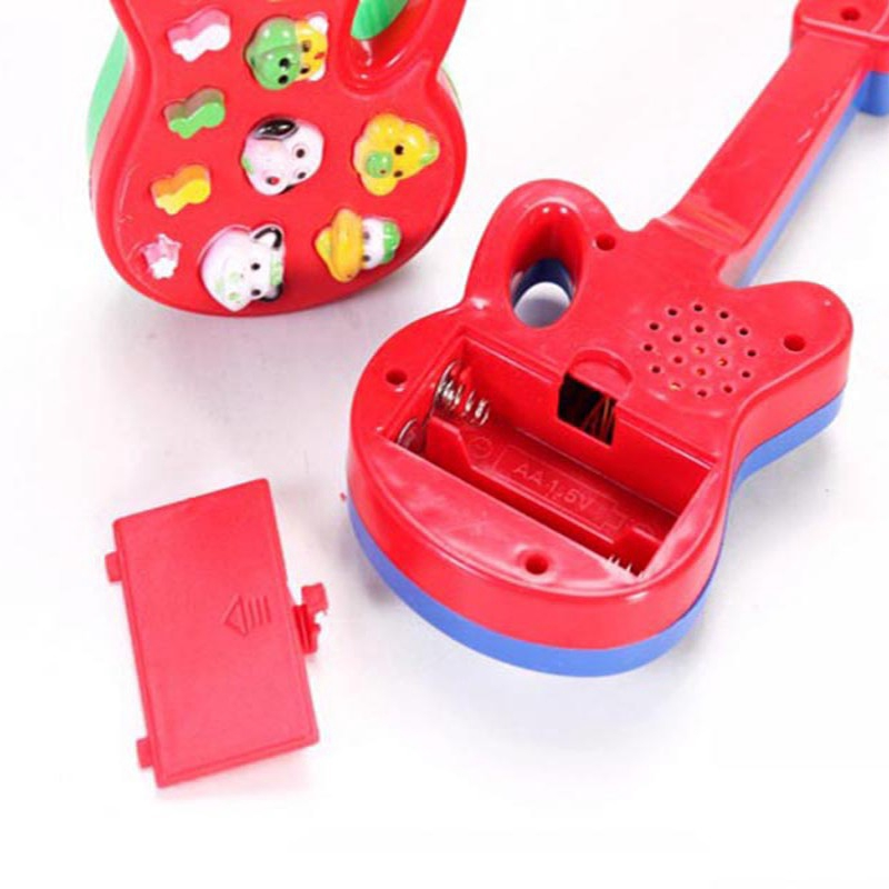 Baby Kids Electronic Guitar Educational Toy Rhyme Developmental Music Sound Toy
