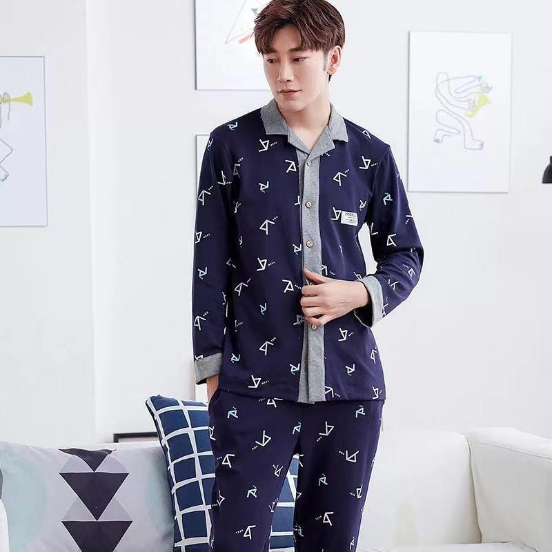 FREESHIP TỪ 99K_Bộ Pijama nam lịch sự, cá tính, khỏe khoắn, vải cotton 100% mềm mại và thoáng mát dễ chịu