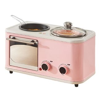 Lò nướng đa năng 3 IN 1. Lò nướng màu hồng. RẺ NHẤT THỊ TRƯỜNG