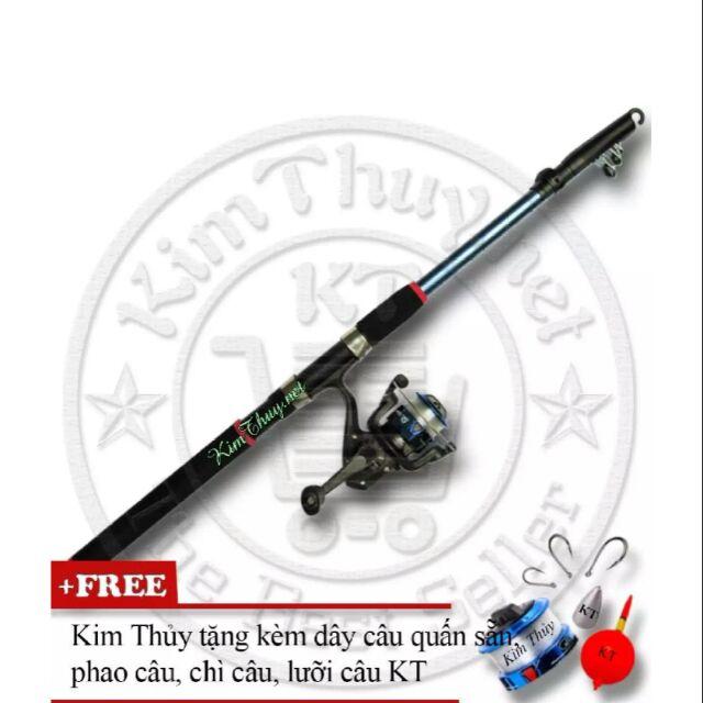 Bộ cần câu cá tiện dụng (*Kim Thủy) KT Blue 2.4M