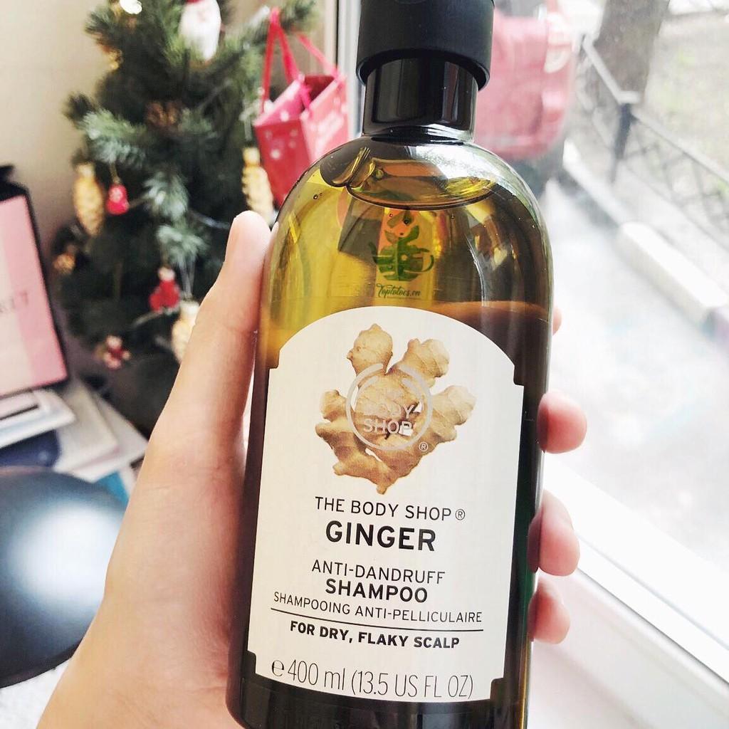 Gội đặc trị gàu ngứa, làm sạch sâu và khoẻ tóc, giảm rụng tóc The Body Shop Ginger Anti-dandruff sha