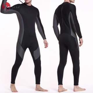 ✿JDBE✿ 3mm Thickness Men Wetsuit Long Sleeve Zipper Warm Swimming Surf Diving Suit