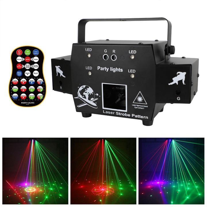 Đèn laser máy bay cảm biến âm thanh nháy theo nhạc cực chất trang trí phòng bar đẳng cấp
