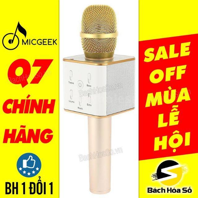 Micro Q7 chính hãng - TIẾNG TO, HÁT NHẸ - Bảo hành 03 tháng