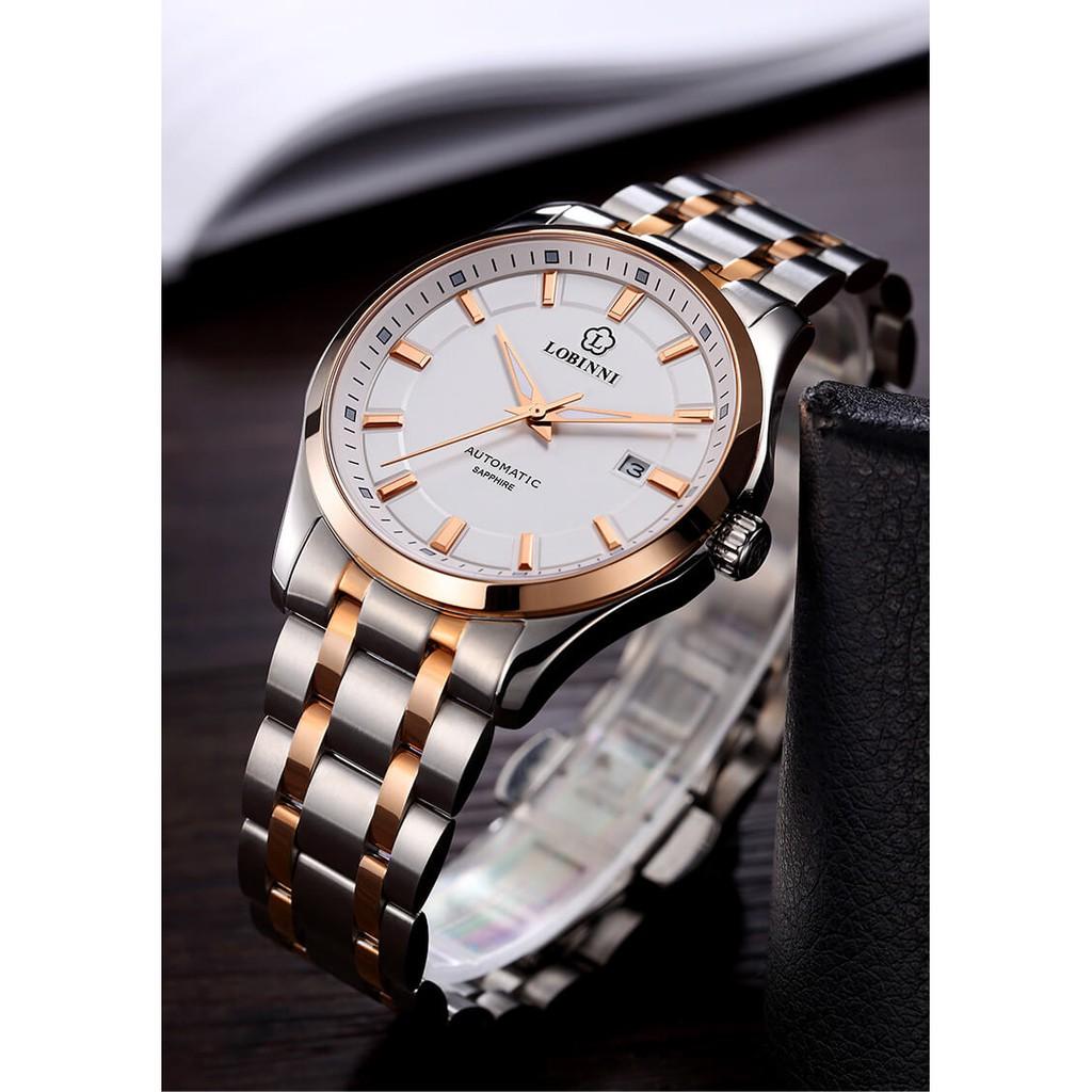 [Mã FARSBRT51 giảm 20K đơn 0 Đồng] Đồng hồ nam chính hãng Lobinni No.9005-2