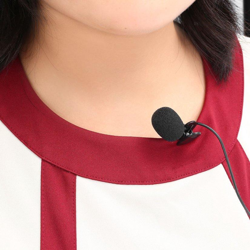 Micro mini cài áo giắc cắm 3.5mm cho notebook/máy tính bàn