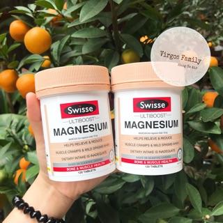 Viên bổ sung Magie hỗ trợ cơ và xương Swisse Magnesium – 120 viên