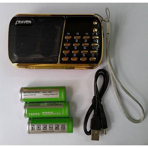 Đài FM, nghe nhạc USB, Thẻ nhớ Crave CR853 dùng 3 pin Bh 3 tháng tặng kèm củ sạc - 3024963 , 802413076 , 322_802413076 , 190000 , Dai-FM-nghe-nhac-USB-The-nho-Crave-CR853-dung-3-pin-Bh-3-thang-tang-kem-cu-sac-322_802413076 , shopee.vn , Đài FM, nghe nhạc USB, Thẻ nhớ Crave CR853 dùng 3 pin Bh 3 tháng tặng kèm củ sạc