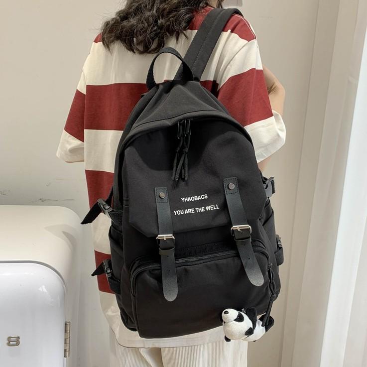 Balo Thời Trang Nữ 💖𝐅𝐑𝐄𝐄 𝐒𝐇𝐈𝐏💖 Balo Nam Nữ Ulzzang Chống Nước Vừa Laptop 15.6Inch Size 42*30cm (BL-118)