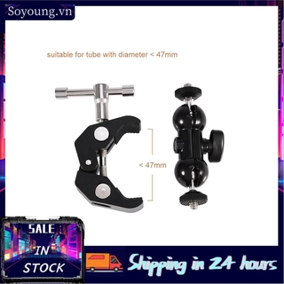 Soyoung Camera Super Clamp With 1/4 Tripod Head Quick Release Pipe Bar Bike