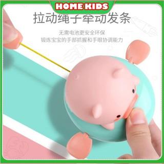 Đồ chơi thả bồn tắm chú lợn chú heo biết bơi mô hình dễ thương siêu nhí nhảnh ngộ nghĩnh trên phao cho bé