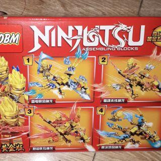 Lắp ráp 1 hộp LegoNinjutsu Rồng 99545 có nhiều chi tiết
