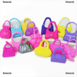 [YHOMX] Mix 10pcs Hand Bag Shoulderbag For Barbie Doll Accessory Style Random TYU