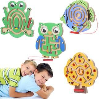 Bảng đồ chơi lăn bi trong mê cung bằng gỗ độc đáo giúp bé phát triển kỹ năng