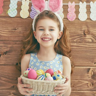 ★Hi★Foam Eggs+1pc Rabbit DIY Easter Day Party Decoration Craft Gifts Toys