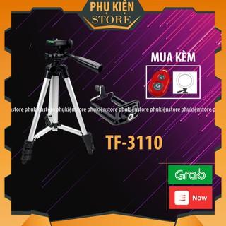 Chân máy ảnh Tripod 3110 tặng Giá kẹp điện thoại, Remote bluetooth và Túi đựng Chính Hãng thumbnail