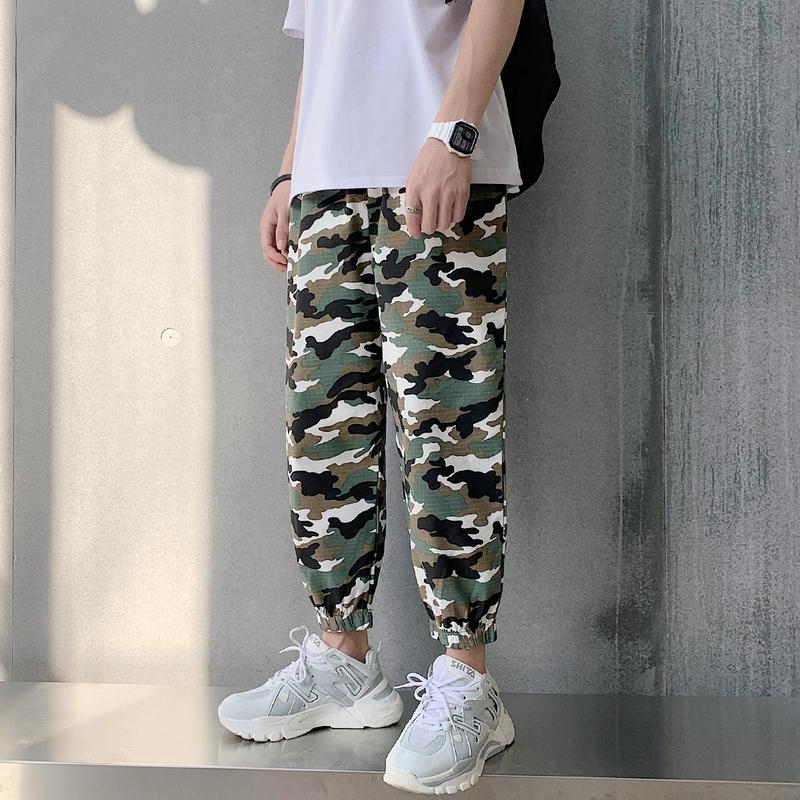long pants  trousers men pants Men Clothes  college style casual trousers  simple  nine-point pants