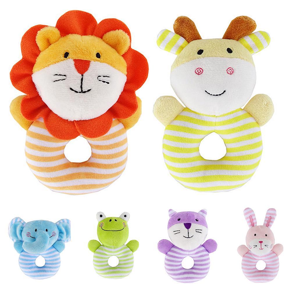 GEZICHTA Kids Gift,Showking Children Baby Animal Handbells Musical Developmental Toy Bed Bells (green frog)