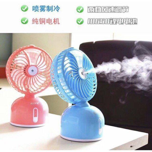 Quạt phun sương tích điện mini