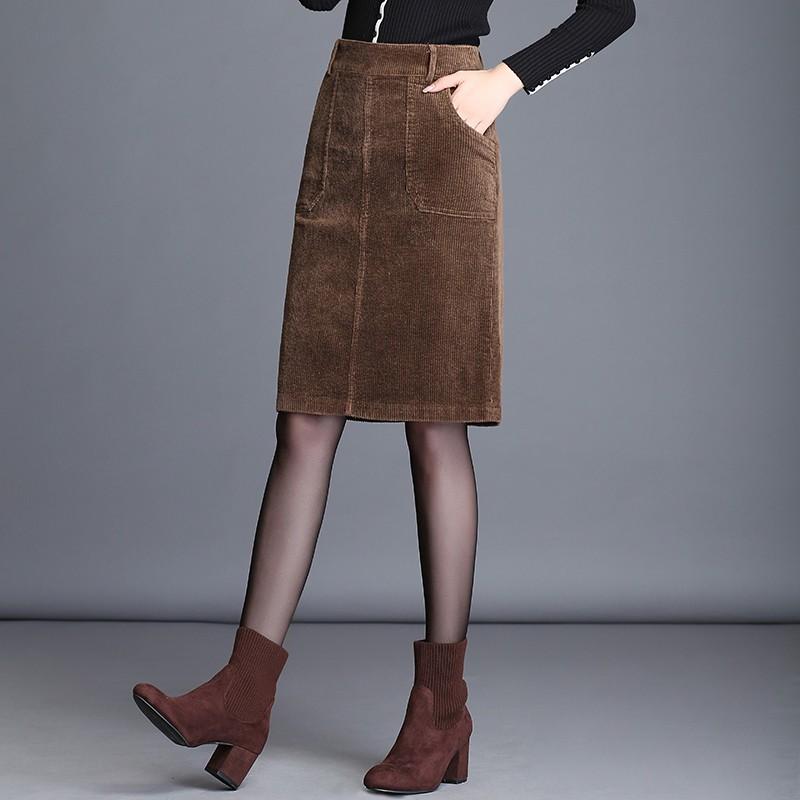 Hàng nhập khẩu: Chân Váy Đầm Dạ Nữ Han Dáng Ôm Dáng Dài Pc Hàn Quốc Quần Áo Nữ Thu Đông Chất Liệu Polyester, (H188 m4415