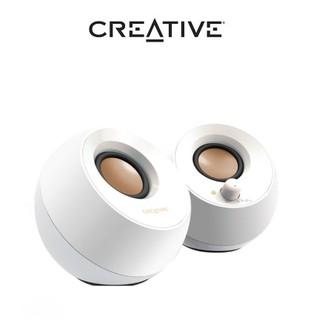 Loa vi tính Creative Pebble White – [Hàng Chính Hãng]