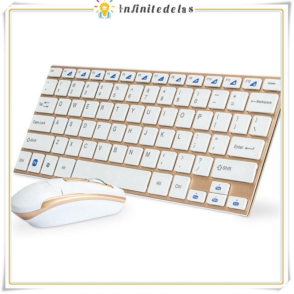 INFINITE 2.4G Bluetooth Wireless Keyboard And Mouse Combo,Ultral-thin Gaming Keyboard Mouse Set Giá chỉ 398.120₫